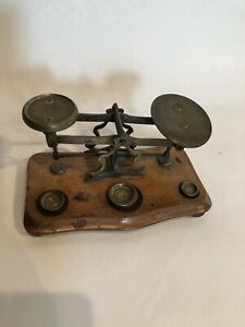 Antique English Post Office Scale