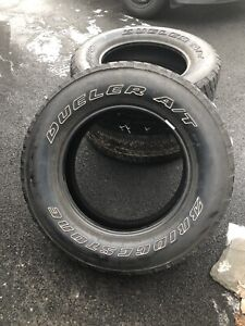 Bridgestone Dueller A/T Mud and Snow Tires, Great Deal!