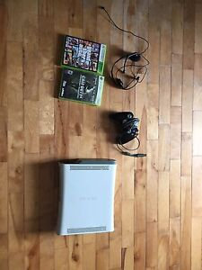 Xbox 360 with mic, control, gta, and cod4