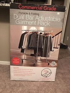 Dual Clothes Rack -Commercial Grade -NEVER OPENED!
