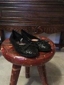 Size 11 sparkly black girls dress shoes