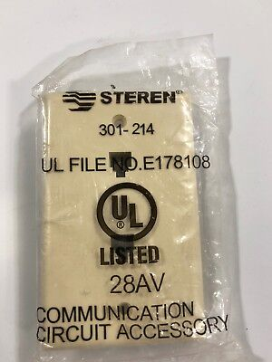 Steren 301-214 Dual Telephone Wall Plate Ivory RJ11 4-Conductor 6P4C Face Plate Steren Dual Wall Plate