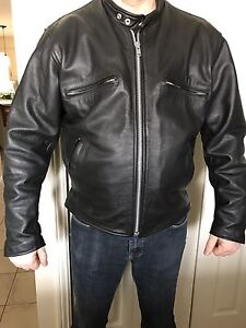 BLACK LEATHER HIS AND HER JACKETS LIKE NEW