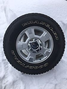 Goodyear Wranglers with rims