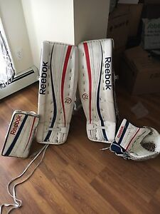 "Reebok P4 35"" goalie set"
