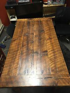 Harvest wood desk