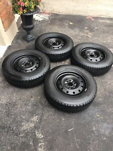 4 winter tires with rims - BF Goodrich 215/70R16