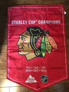 Chicago black hawks Stanley cup banner
