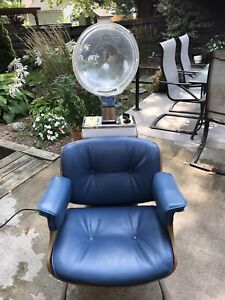 Hair dryer and chair