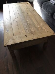 Custom coffee table with hidden gun drawer