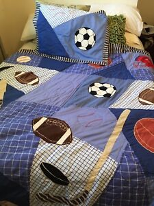 Sports theme, twin or double  Comforter.