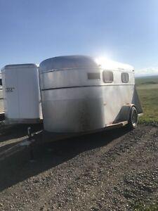 Aluminum 2 horse trailer
