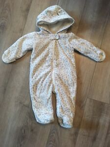 6m Carter Fleece Snowsuit