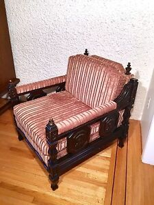 Gorgeous Vintage Solid Wood Living Room Chair from 40s
