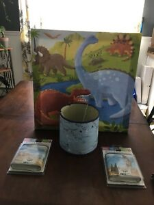 Dinosaur themed kids room accessories