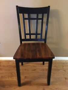 Set of three dining chairs