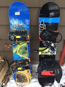Junior 110cm Snowboards and bindings W/boots