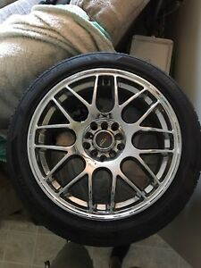 Mint chrome rims with ZR rated tires