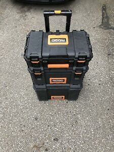 >>>RIDGID STACKABLE TOOL BOXES <<<
