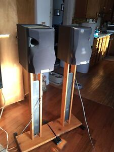 Kenwood speakers on stands 50 inches tall