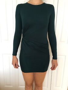 ZARA Dark Blue Long Sleeve Dress - Size S