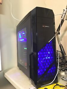 Water cooled i7-7700k gaming pc