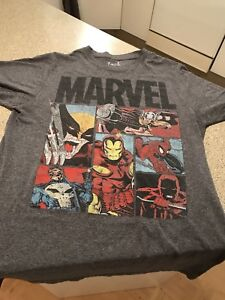 T-shirt gris Marvel pour homme/medium