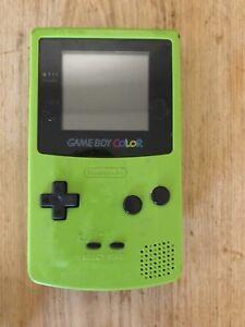 Game boy colour with three Pokémon games
