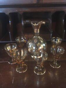 Vintage decanter set