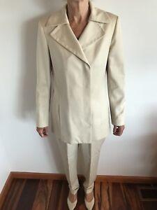 Vintage 1980s Anne Klein II Pure Wool Pantsuit Size 6/8