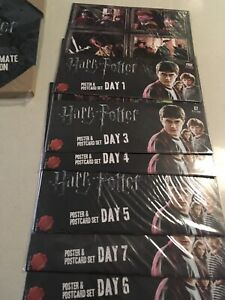 HARRY POTTER'S   POSTERS  & POSTCARDS with ALBUM West End Brisbane South West Preview