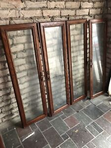 GLASS DOORS FROM VINTAGE BUFFET