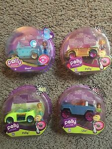 2000's Polly Pocket Race to the Mall Wheels Sets