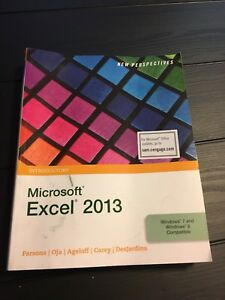 Microsoft Excel 2013 Introduction textbook