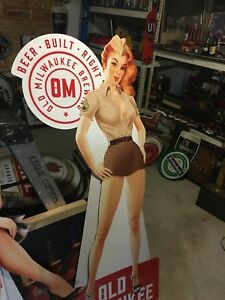 Old milwaukee beer pin up girl