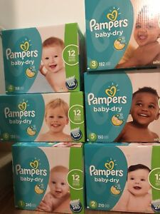 Pamper baby dry couches size 1-6
