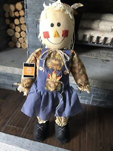 """BRAND NEW! 30"""" Standing Scarecrow Doll Autumn Fall Country Decor"""