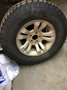 LT245/75r16 Winter Tires and rims off Ford Ranger