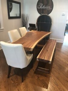 Gorgeous live edge dining room set