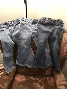 3 paires de jeans fillette 4T Children's Place