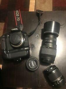 Canon 7D with 3 lenses