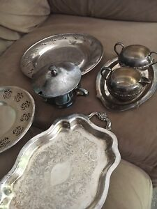 Lot of Silver plated on copper items - 20 for all