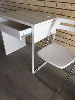Study table and fold up chair