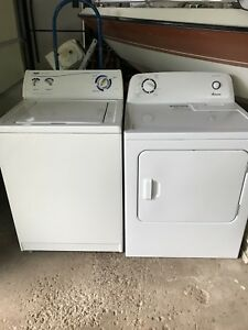 White washer/dryer set