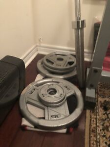 Bench press with Olympic weight set 300lbs