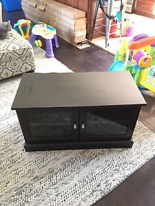 TV / Entertainment unit. Brown/Black with glass doors