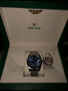 Rolex 40mm datejust blue face