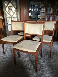 Mid Century vintage/retro timber Parker style dining chairs