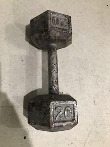 20 lb Hex Iron Dumbell, Free Weights
