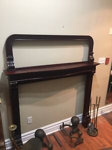 Red Mahogany Victorian fireplace delicately removed/preserved